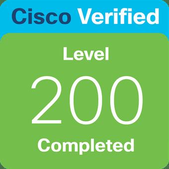 Cisco Verified Level 200 Badge