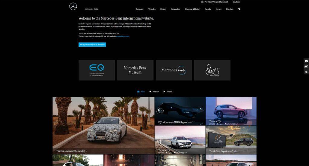 Mercedes Benz WordPress Website