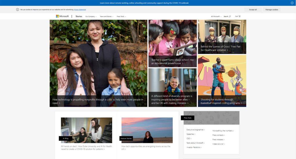 Microsoft News Center WordPress Website